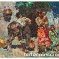 Arte: JOSEP SERRASANTA. GITANOS. LIENZO 60X72. NUEVAS FOTOS.. Lote 69697057