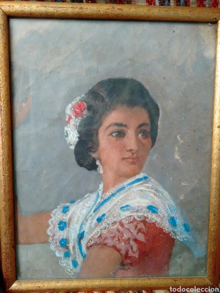 CUADRO PINTADO AL OLEO GRANDES DETALLES DE PINTOR DESCONOCIDO (Arte - Pintura - Pintura al Óleo Antigua sin fecha definida)