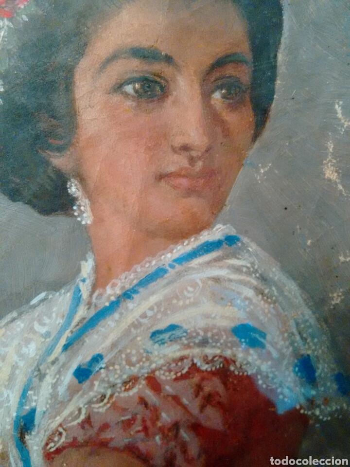 Arte: Cuadro pintado al oleo grandes detalles de pintor desconocido - Foto 3 - 69751478