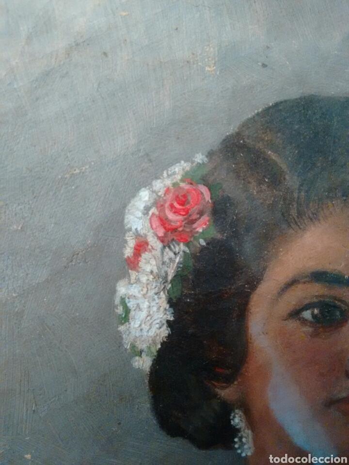 Arte: Cuadro pintado al oleo grandes detalles de pintor desconocido - Foto 5 - 69751478