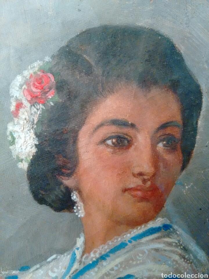 Arte: Cuadro pintado al oleo grandes detalles de pintor desconocido - Foto 6 - 69751478
