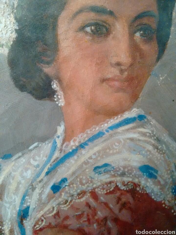 Arte: Cuadro pintado al oleo grandes detalles de pintor desconocido - Foto 7 - 69751478