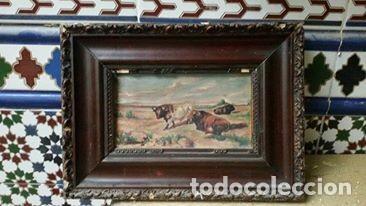 CUADRO TOROS (Arte - Pintura - Pintura al Óleo Antigua sin fecha definida)