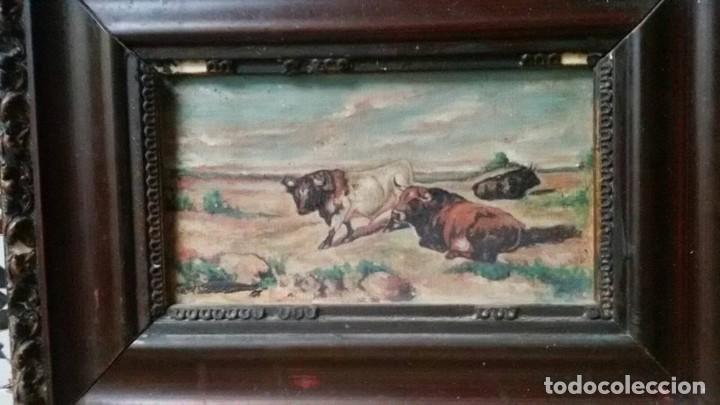 Arte: cuadro toros - Foto 2 - 69787065