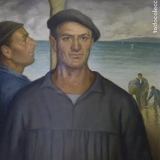 Arte: RAFAEL PEÑUELAS (SANTA CRUZ DE TENERIFE 1901-2001) MARINERO VASCO.. Lote 69853649