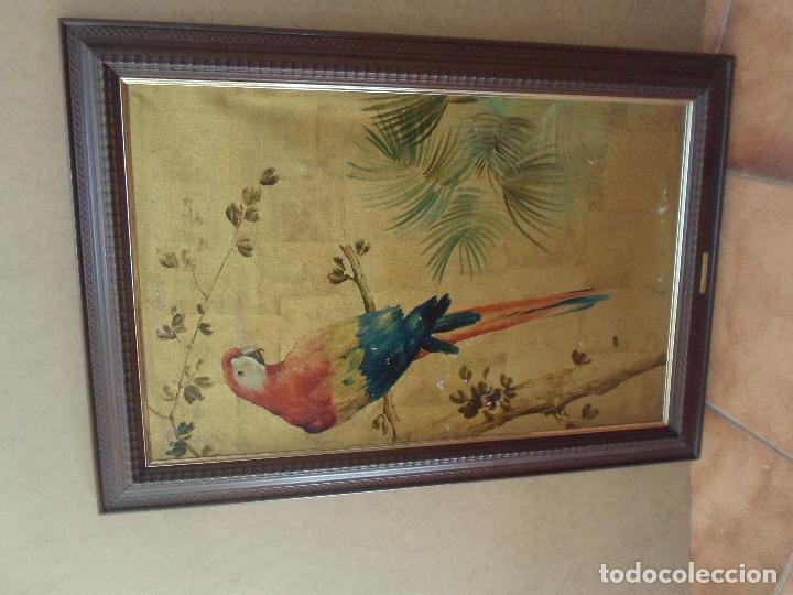 Arte: ÓLEO EN PAN DE ORO DE JOSE CASANOVA CON CERTIFICADO - Foto 2 - 47530039
