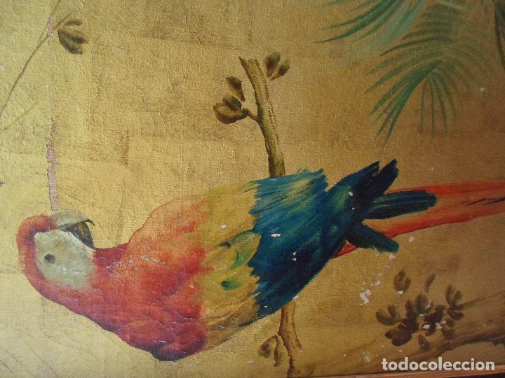 Arte: ÓLEO EN PAN DE ORO DE JOSE CASANOVA CON CERTIFICADO - Foto 4 - 47530039