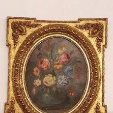 Arte: OLEO SOBRE TABLA ANTIGUO PAN DE ORO. Lote 66891526