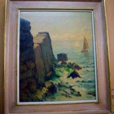 Arte: POUS PALAU, ANTONI/ SABADELL,1870-BARCELONA,1959/ ÓLEO SOBRE LIENZO. Lote 70272157