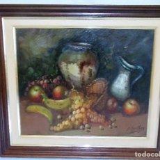 Arte: OLEO SOBRE TAPIZ LIENZO BODEGON POR J. BELTRAN. Lote 71077193