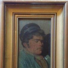 Arte: C. LEROUX: PESCADOR, ÓLEO SOBRE TABLA / SIGLO XIX. Lote 71086341