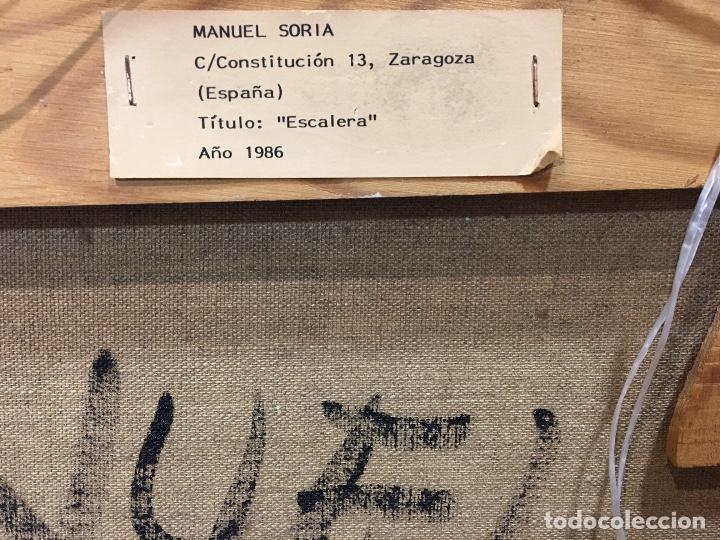 Arte: Carlos Soria. Artista contemporáneo. Aragón. Zaragoza. 1986. - Foto 4 - 71089817