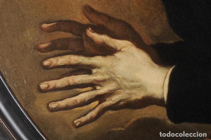Arte: Impresionante óleo barroco italiano del siglo XVII representando a San Felipe Neri - Foto 2 - 74376398