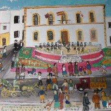 Arte: PUERTA DEL MAR ,ADRA AÑOS 40, ÓLEO SOBRE LIENZO EN BASTIDOR DE CRESPO . Lote 71512635