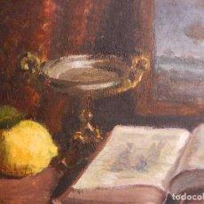 Arte: ÓLEO SOBRE LIENZO. BODEGÓN. FIRMADO A. MIRALLES. 1949.. Lote 71583827