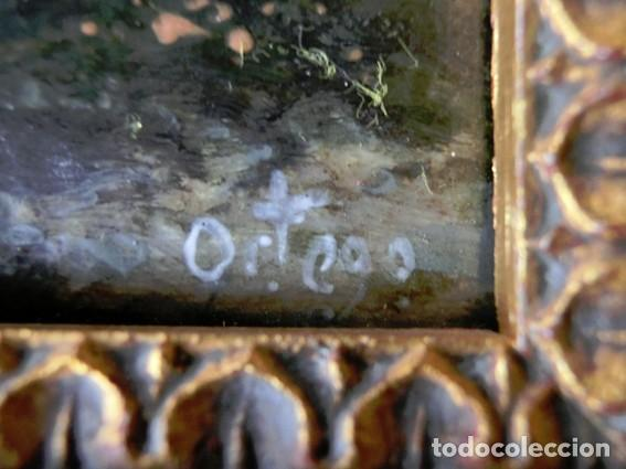 Arte: PINTURA SOBRE ESMALTE ENMARCADO -TREN - AUTOR ALBERTO ORTEGO POLO - M. RAMOS ARTAL OBRA FIRMADA - Foto 14 - 71684487