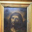 Arte: CRISTO CON CORONA DE ESPINO. ÓLEO SOBRE COBRE. BARROCO. SIGLOS XVI-XVII. Lote 71770095
