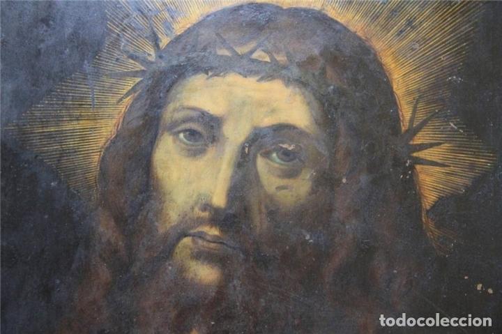 Arte: CRISTO CON CORONA DE ESPINO. ÓLEO SOBRE COBRE. BARROCO. SIGLOS XVI-XVII - Foto 2 - 71770095