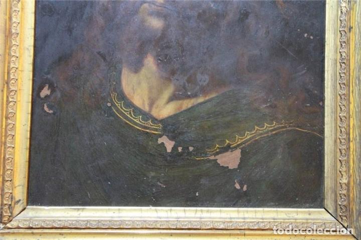 Arte: CRISTO CON CORONA DE ESPINO. ÓLEO SOBRE COBRE. BARROCO. SIGLOS XVI-XVII - Foto 3 - 71770095