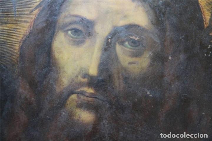 Arte: CRISTO CON CORONA DE ESPINO. ÓLEO SOBRE COBRE. BARROCO. SIGLOS XVI-XVII - Foto 6 - 71770095