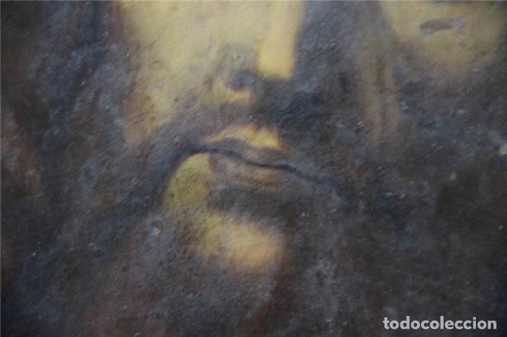 Arte: CRISTO CON CORONA DE ESPINO. ÓLEO SOBRE COBRE. BARROCO. SIGLOS XVI-XVII - Foto 8 - 71770095