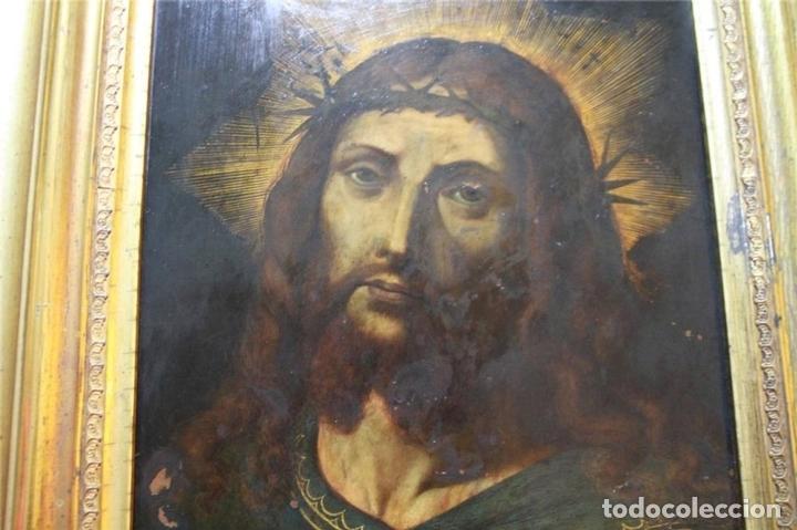 Arte: CRISTO CON CORONA DE ESPINO. ÓLEO SOBRE COBRE. BARROCO. SIGLOS XVI-XVII - Foto 9 - 71770095