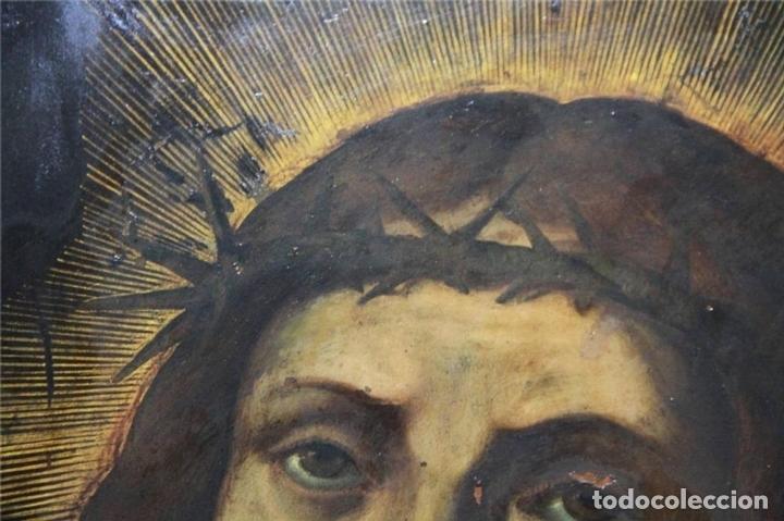 Arte: CRISTO CON CORONA DE ESPINO. ÓLEO SOBRE COBRE. BARROCO. SIGLOS XVI-XVII - Foto 11 - 71770095