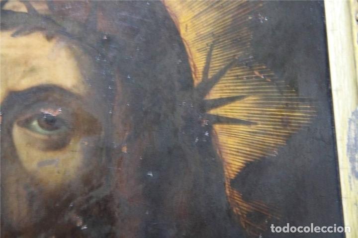 Arte: CRISTO CON CORONA DE ESPINO. ÓLEO SOBRE COBRE. BARROCO. SIGLOS XVI-XVII - Foto 12 - 71770095