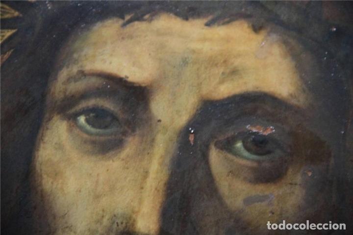 Arte: CRISTO CON CORONA DE ESPINO. ÓLEO SOBRE COBRE. BARROCO. SIGLOS XVI-XVII - Foto 13 - 71770095