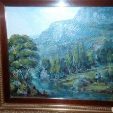 Arte: OLEO SOBRE LIENZO DE JOSE RIVAS LARA 55X46 ENMARCADO.. Lote 71792907