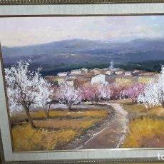 Arte: OLEO SOBRE LIENZO DE GRAN CALIDAD, PUEBLO CASTELLANO.. Lote 71809631