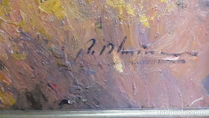 Arte: Oleo sobre lienzo de gran calidad, pueblo castellano. - Foto 3 - 71809631