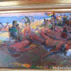Arte: FERNANDO SORIA . PLAYA DE ALICANTE. ÓLEO. Lote 72051447