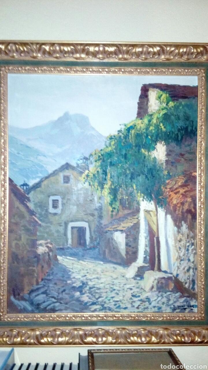 PAISAJE RURAL OLEO (80X55) DE ANTONIO IGLESIAS SANZ, ENMARCADO (Arte - Pintura - Pintura al Óleo Contemporánea )