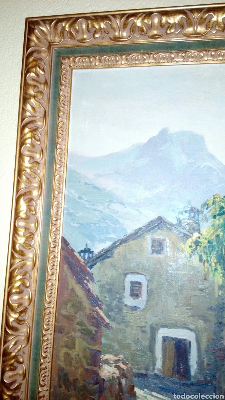Arte: PAISAJE RURAL OLEO (80x55) DE ANTONIO IGLESIAS SANZ, enmarcado - Foto 3 - 72103611