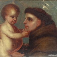 Arte: ÓLEO SOBRE TELA SAN ANTONIO ESCUELA GRANADINA SIGLO XVII. Lote 155855374