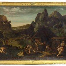 Arte: ÓLEO SOBRE COBRE ESCENA BÍBLICA ESCUELA FLAMENCA SIGLO XVII. Lote 72186879