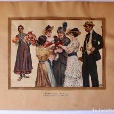 Arte: HERMOSA PINTURA FIRMADA POR J. PABLO ARA SARRIA 1919, LA PINTURA REPRESENTA UN MOMENTO COTIDIANO.. Lote 72455443