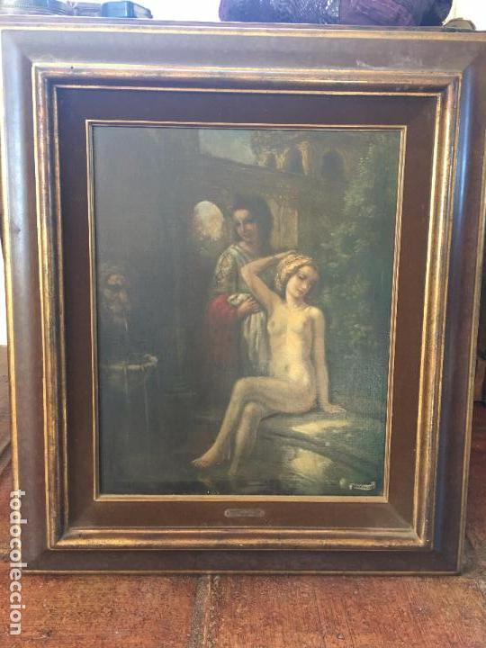 OLEO SOBRE LIENZO, FIRMADO H.V.D. VELDE. OIL ON CANVAS, SIGNED H.V.D. VELDE. (Arte - Pintura - Pintura al Óleo Moderna siglo XIX)