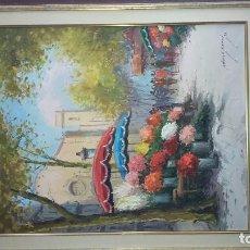 Arte: OBRA DEL RECONOCIDO PINTOR OBACH CARNE. Lote 72834067