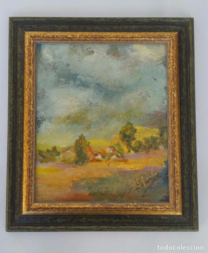BONITO OLEO SOBRE TABLA - FIRMADO LAFUENTE - ENMARCADO - 21,5 X 24,5 CM (Arte - Pintura - Pintura al Óleo Contemporánea )