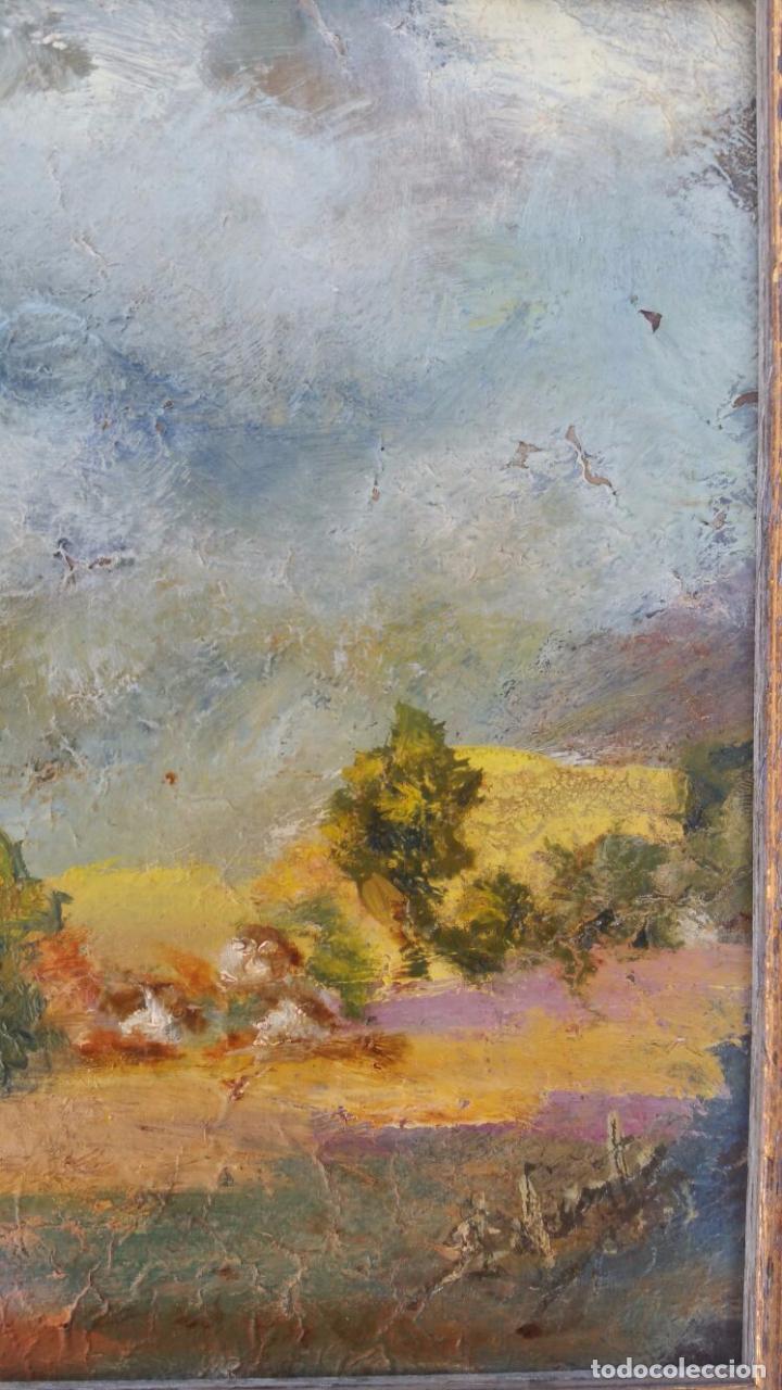 Arte: Bonito oleo sobre tabla - Firmado Lafuente - Enmarcado - 21,5 x 24,5 cm - Foto 2 - 73288819