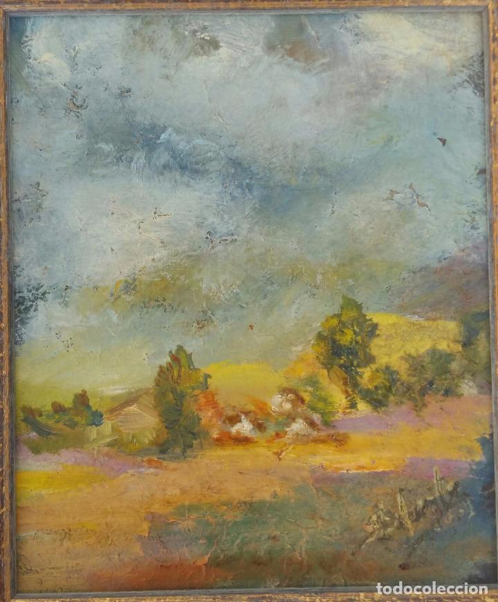 Arte: Bonito oleo sobre tabla - Firmado Lafuente - Enmarcado - 21,5 x 24,5 cm - Foto 3 - 73288819