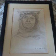 Arte: DIBUJO ARABESCO FIRMADO AVSHALOM MED.28X22CM INCLUYE MARCO. Lote 73298971