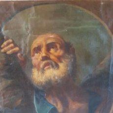 Arte: SAN ANDRES - ESCUELA ESPAÑOLA SIGLO XVIII - OLEO SOBRE LIENZO - BUENTAMAÑO. Lote 73448963