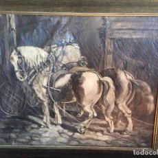 Arte: CABALLOS LABRANDO INGLESES . ENGLISH WORKING HORSES.. Lote 73462143