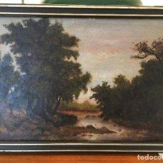 Kunst - ÓLEO SOBRE TABLA PAISAJE S. XIX - 73523047