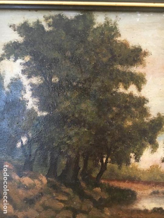 Arte: ÓLEO SOBRE TABLA PAISAJE S. XIX - Foto 2 - 73523047