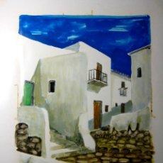 Arte: IBIZA. ACRILICO/CARTULINA. FIRMADO CHEMAZ EN 1981. Lote 73602163