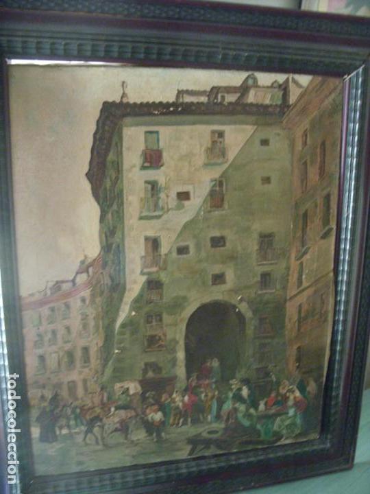 OLEO ANTIGUO ARCO DE CUCHILLEROS (Arte - Pintura - Pintura al Óleo Antigua sin fecha definida)